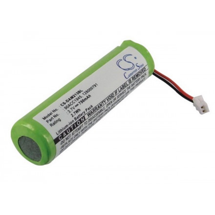 Аккумулятор для DATALOGIC QM2130, QuickScan Mobile Datalogic, M2130, QuickScan Mobile 2130, QuickScan QM2130 - 128000790 - 750 mAh